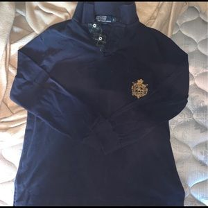 Polo by Ralph Lauren blue and gold long sleeve